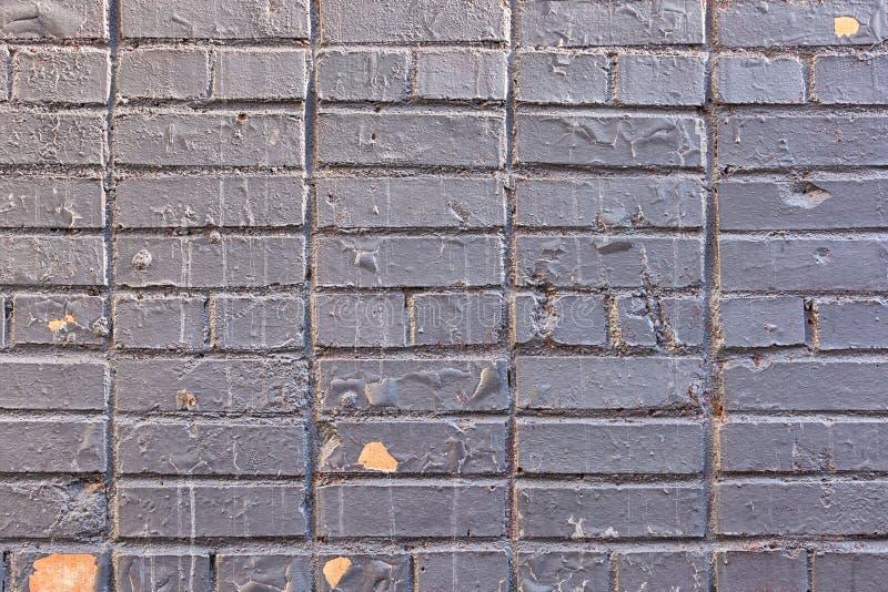 Oud Geschilderd Grey Brick Wall Texture Background royalty-vrije stock afbeeldingen