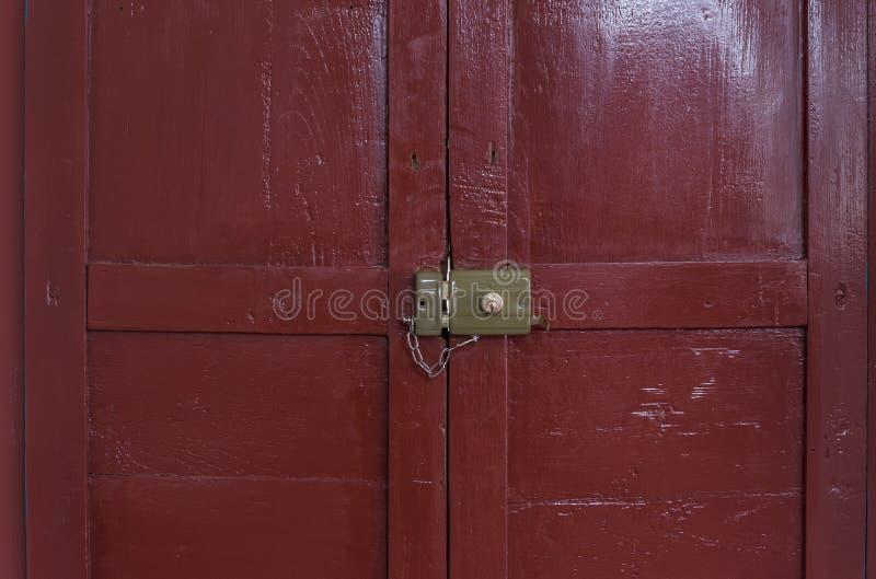 Oud gesloten slot royalty-vrije stock afbeelding