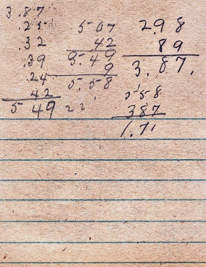 Oud gevoerd document met het schrijven royalty-vrije stock foto's