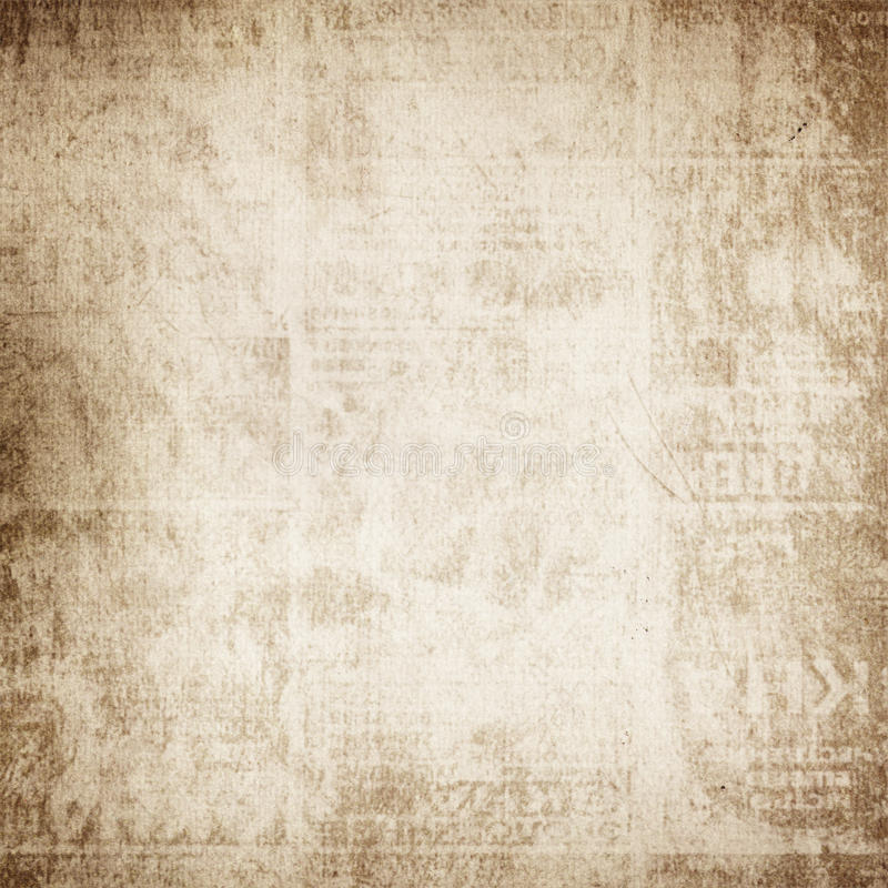 Oud gevouwen document vector illustratie