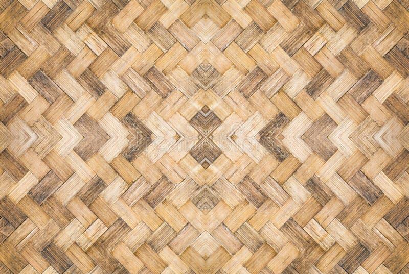 Oud geweven bamboepatroon royalty-vrije stock afbeelding