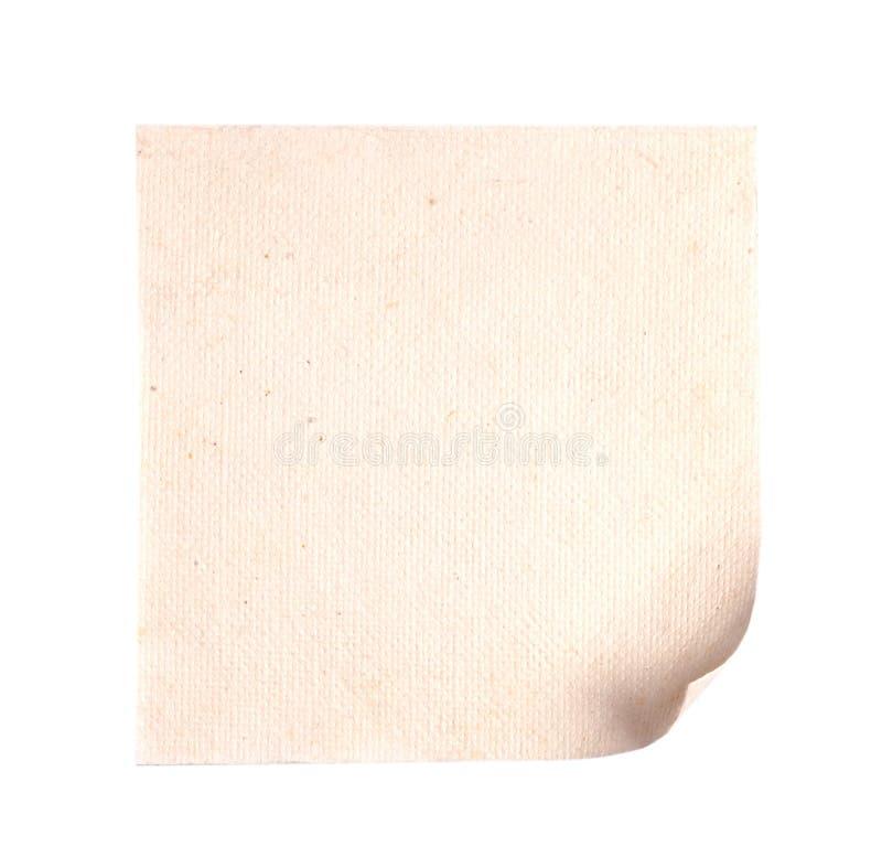 oud geweven die document op wit wordt geïsoleerd stock foto's