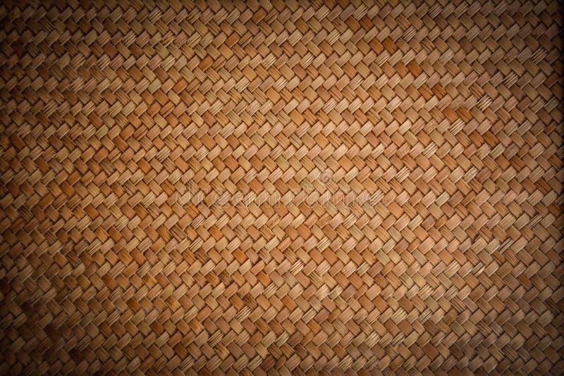 Oud geweven houten patroon stock foto's
