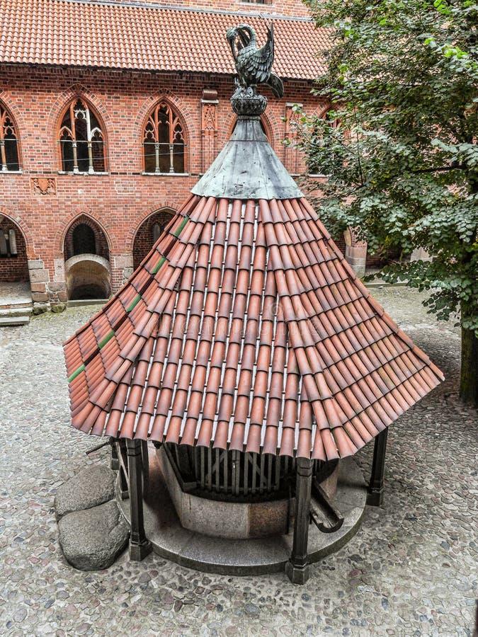 Oud goed in Malbork-kasteel stock fotografie