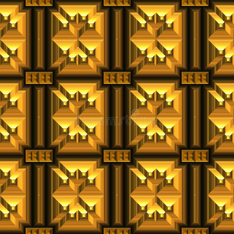Oud goud vector illustratie