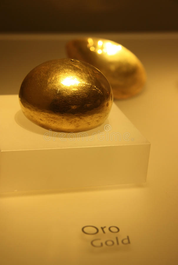 Oud Gouden Artefact stock afbeeldingen