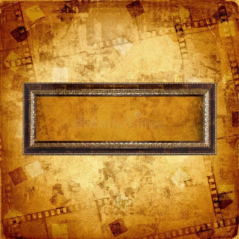 Oud gouden frame vector illustratie
