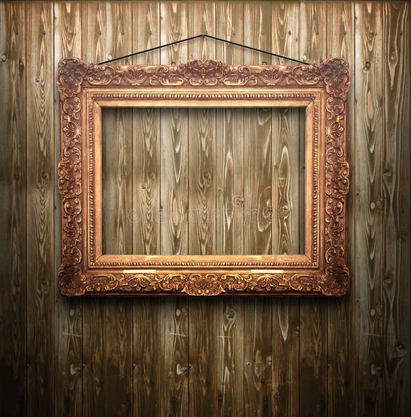 Oud gouden frame stock afbeeldingen