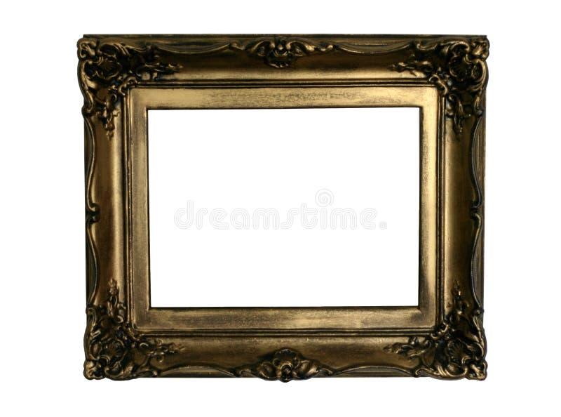 Oud gouden frame, klaar in te vullen stock foto's
