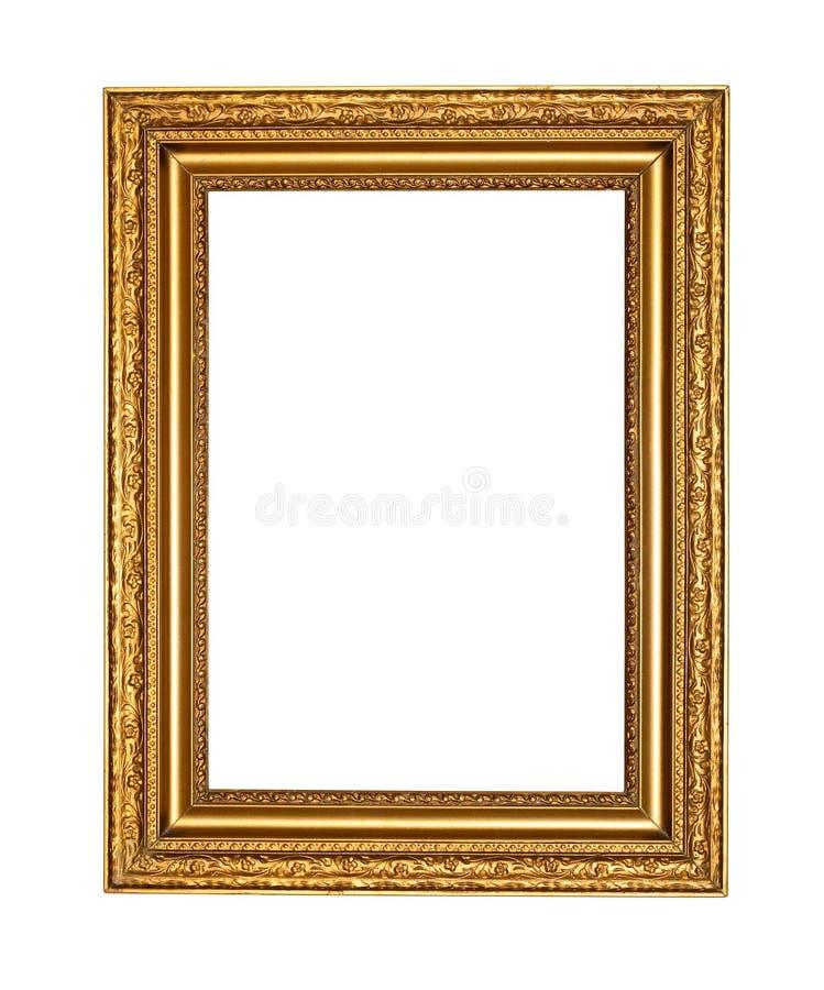 Oud gouden frame met het knippen van weg royalty-vrije stock foto's