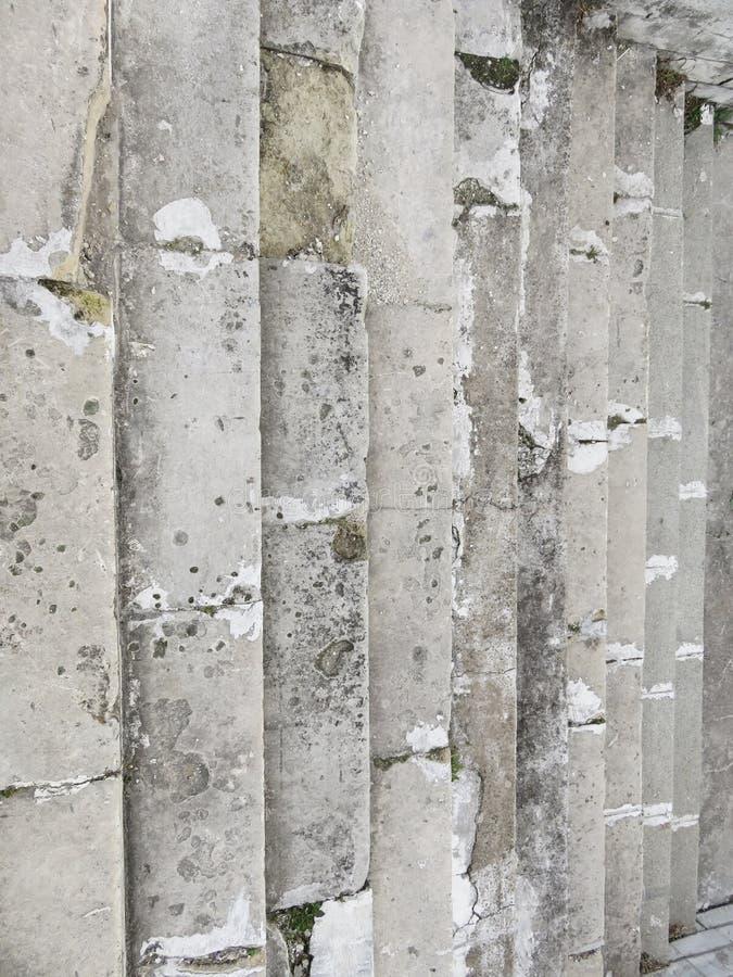 Oud Gray Staircase Trap van Oud Gray Bricks, Uitstekende Stairc stock foto