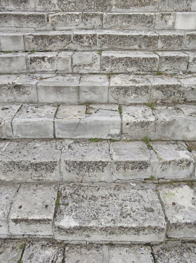 Oud Gray Staircase Trap van Oud Gray Bricks, Uitstekende Stairc royalty-vrije stock afbeelding