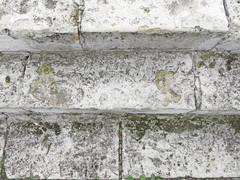 Oud Gray Staircase Trap van Oud Gray Bricks, Uitstekende Stairc stock fotografie