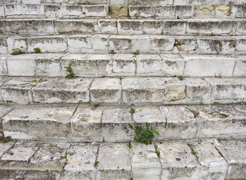 Oud Gray Staircase Trap van Oud Gray Bricks, Uitstekende Stairc royalty-vrije stock foto