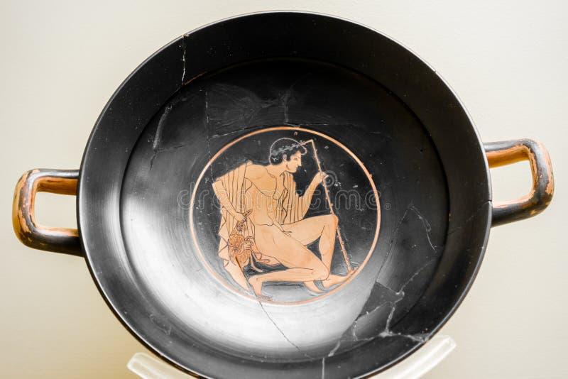 Oud Grieks Aardewerk royalty-vrije stock afbeeldingen