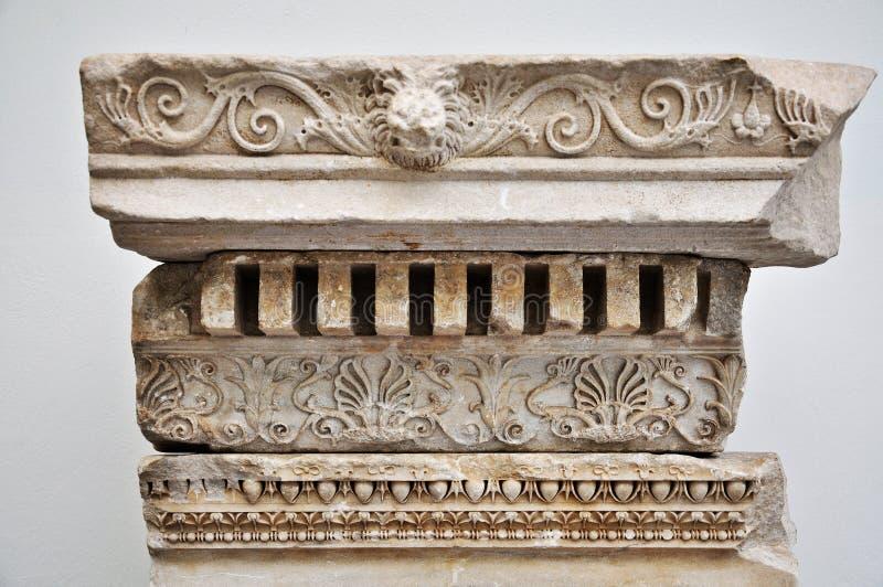 Oud Grieks hulpdetail stock foto's