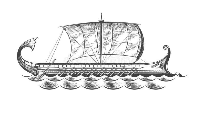 Oud Grieks Kombuis royalty-vrije illustratie