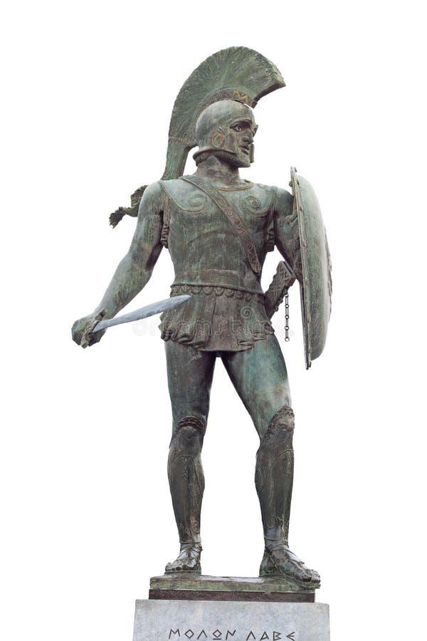 Oud Grieks strijdersstandbeeld royalty-vrije stock fotografie