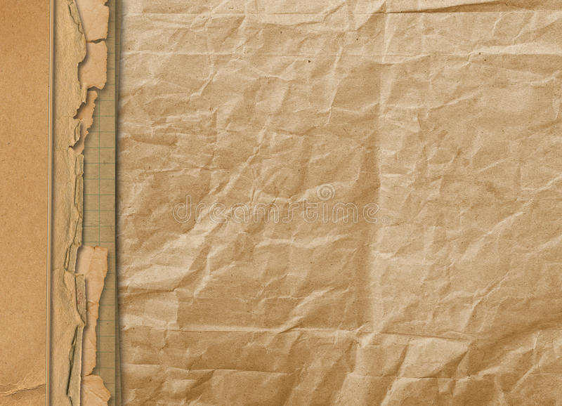 Oud grunge vervreemd document stock illustratie