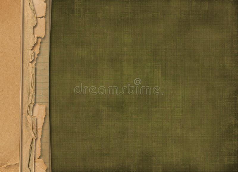 Oud grunge vervreemd document voor ontwerp vector illustratie