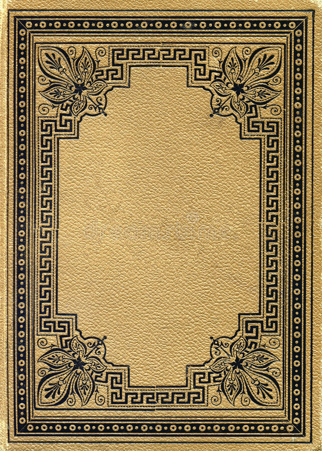 Oud grunged, bevlekt boek royalty-vrije stock foto's