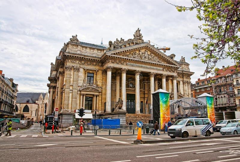 Oud herenhuis met kolommen in Dresden in Duitsland royalty-vrije stock foto