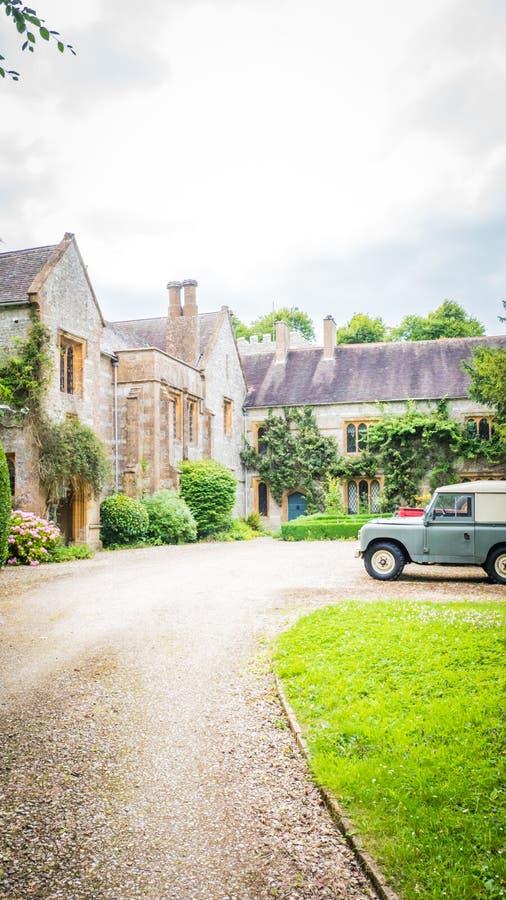 Oud herenhuis in small-town in Dorset, het UK royalty-vrije stock fotografie
