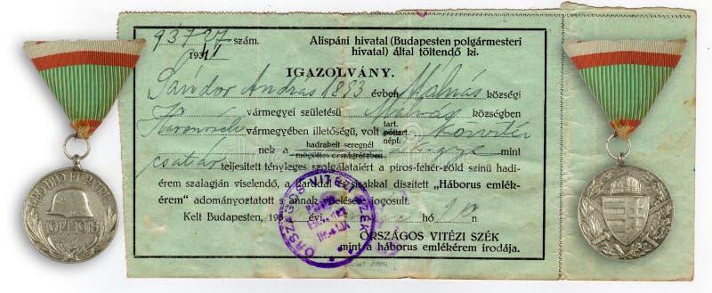 Oud historisch certificaat royalty-vrije stock foto's