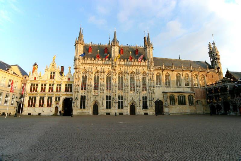 Oud Hof en Townhall - Brugge royalty-vrije stock foto's