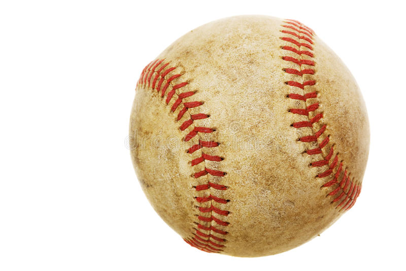 Oud honkbal royalty-vrije stock foto's