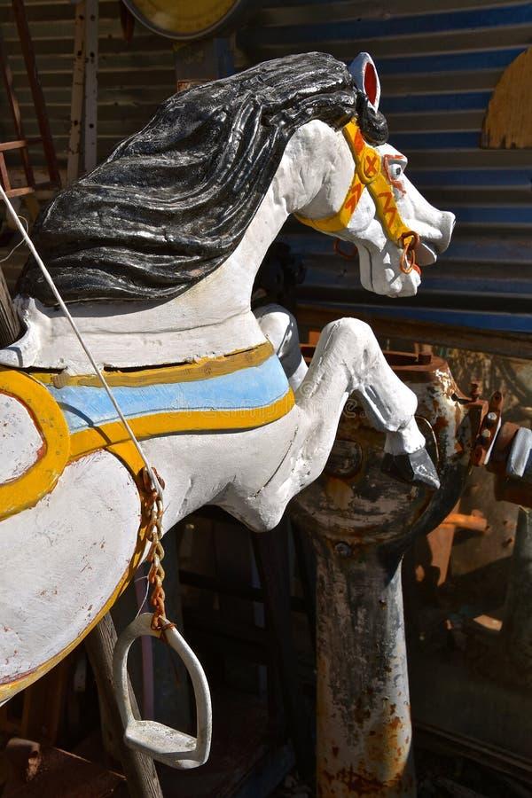 Oud hout gesneden paard royalty-vrije stock afbeelding
