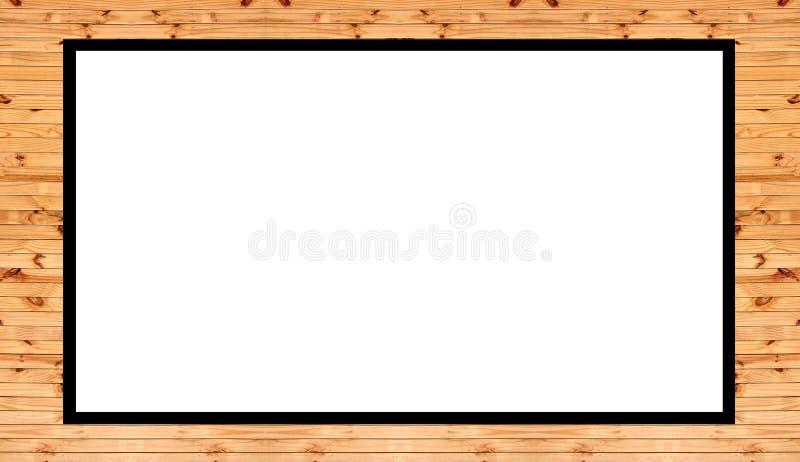 Oud houten die kader op witte ruimte als achtergrond en exemplaar voor u tekstontwerp wordt geïsoleerd stock foto's