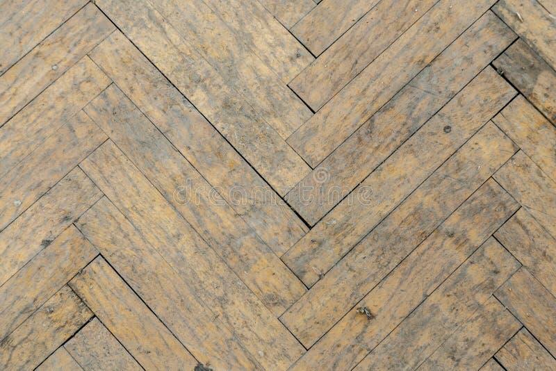 Oud houten parket stock afbeeldingen