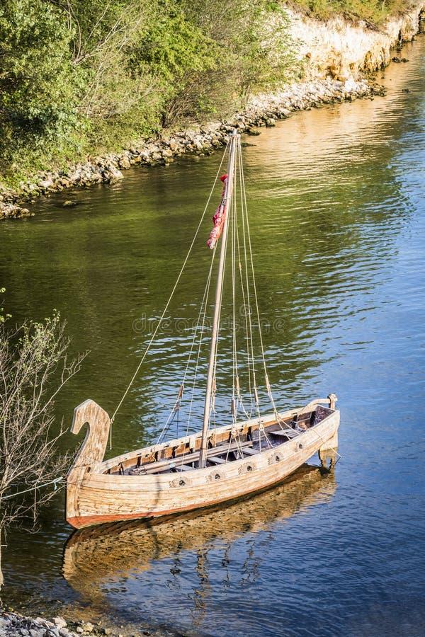 Oud houten schip stock fotografie