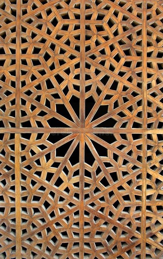 Oud houten traliewerk royalty-vrije stock foto