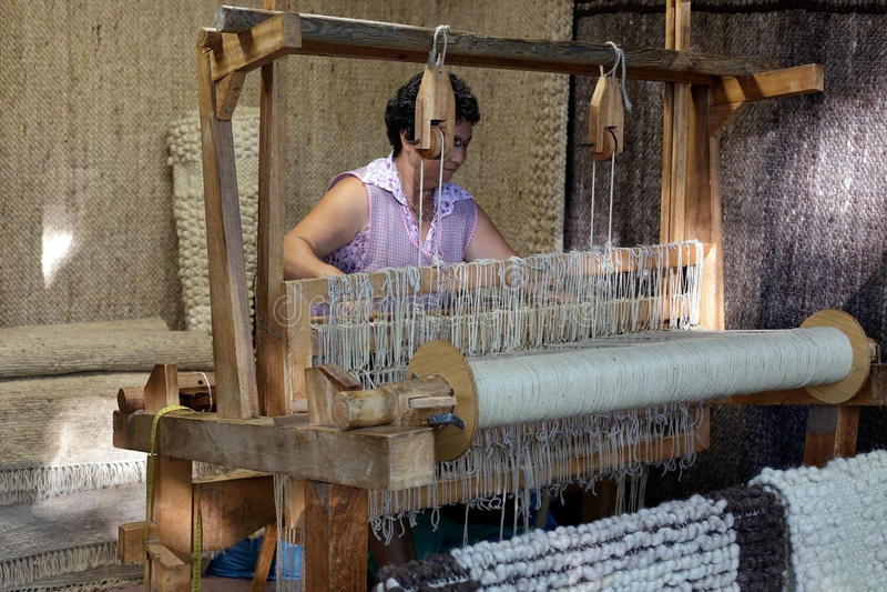 Oud houten weefgetouw royalty-vrije stock foto