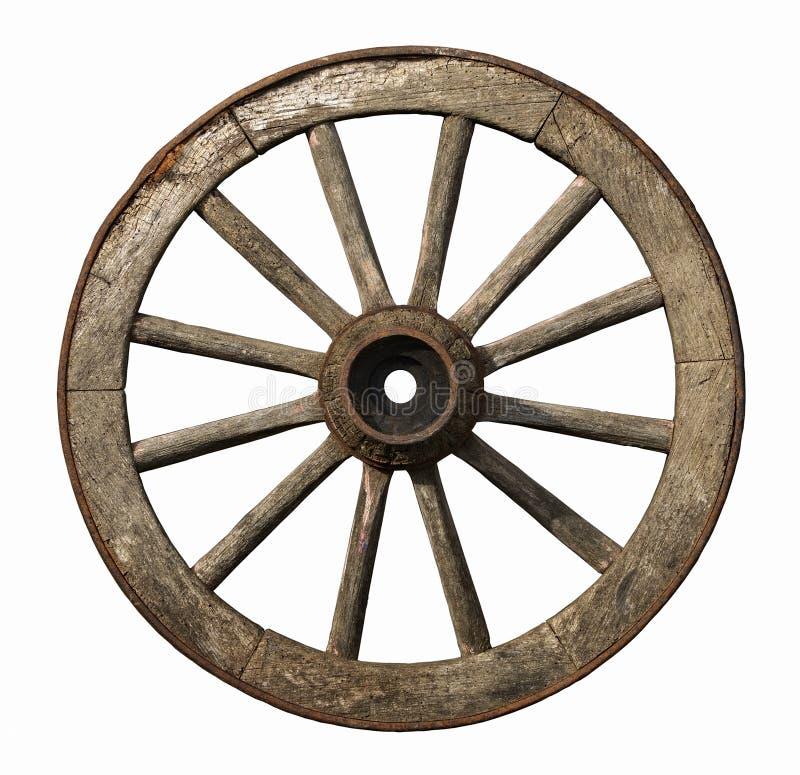 Oud houten wiel royalty-vrije stock foto's