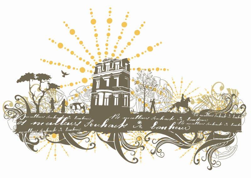 Oud huis royalty-vrije illustratie