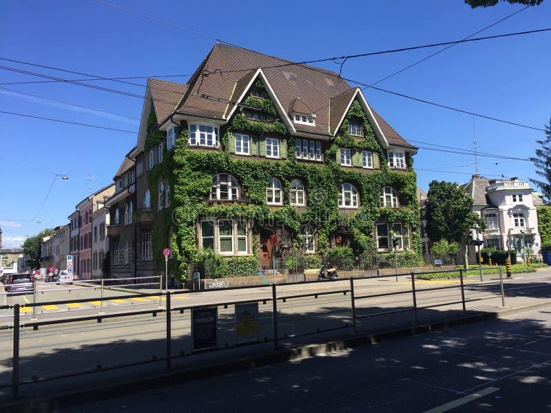 Oud huis in Bazel royalty-vrije stock foto