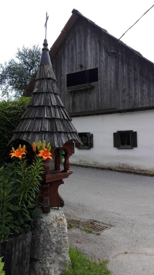 Oud huis in Bohinj royalty-vrije stock afbeelding