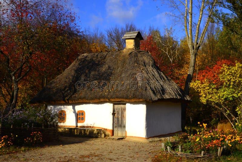 Oud huis in de Oekraïne royalty-vrije stock afbeelding