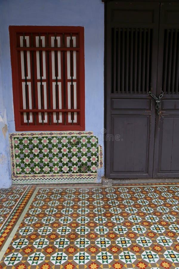 Oud Huis in Georgetown, Penang Maleisië stock foto