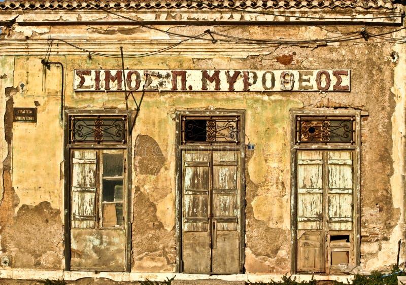 Oud huis in Griekenland in de zomer (Peloponese) royalty-vrije stock afbeeldingen