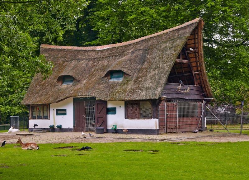 Oud huis met een met stro bedekt dak stock foto afbeelding 49498418 - Huis verlenging oud huis ...