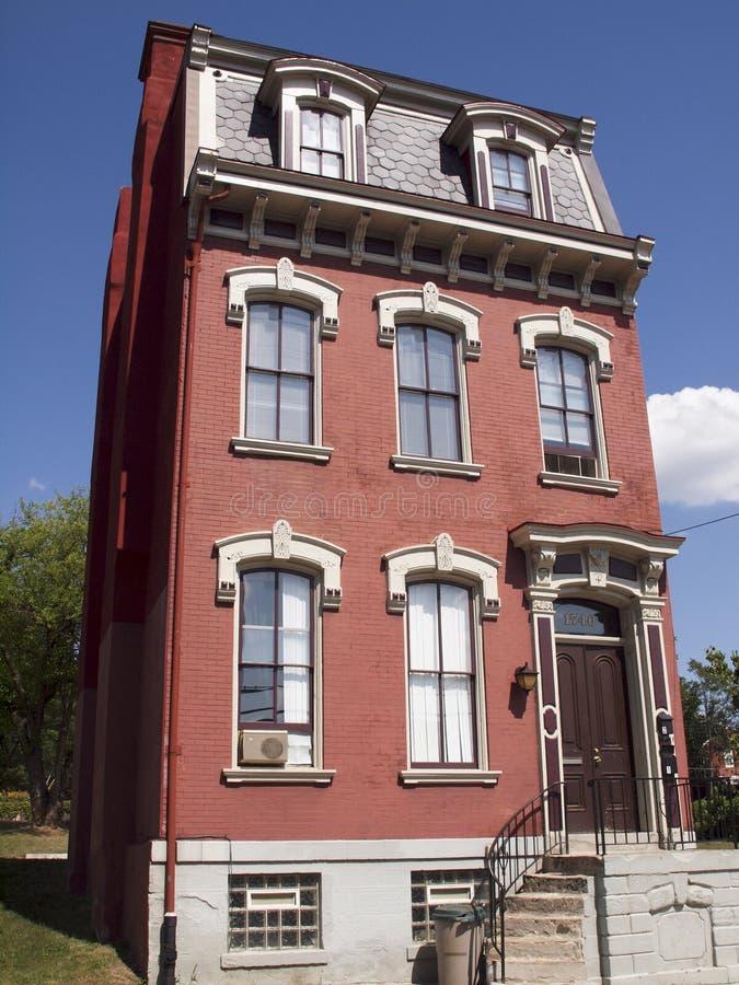 Oud huis in Pittsburgh stock foto's