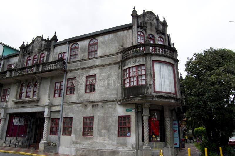 Oud huis San Jose Costa Rica royalty-vrije stock fotografie