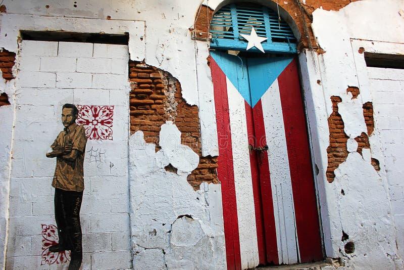 Oud huis San Juan Old City stock foto's