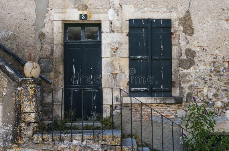 Oud Huis in Sancerre Frankrijk stock afbeelding