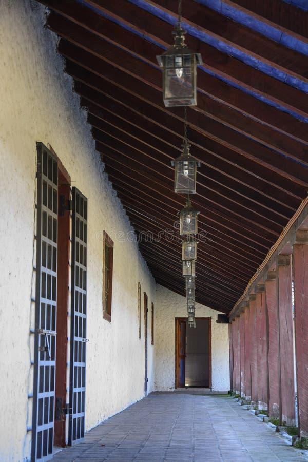 Oud huis van koloniale architectuur in Chili royalty-vrije stock afbeeldingen