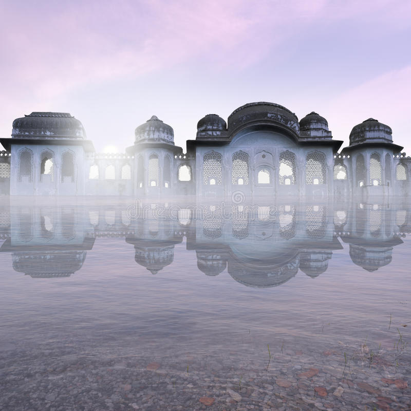Oud Indisch monument royalty-vrije stock afbeelding